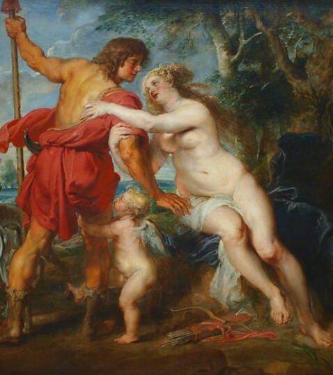 Vénus et Adonis par Peter Paul Rubens